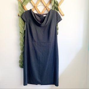 Calvin Klein Gray Cowl Neck Dress